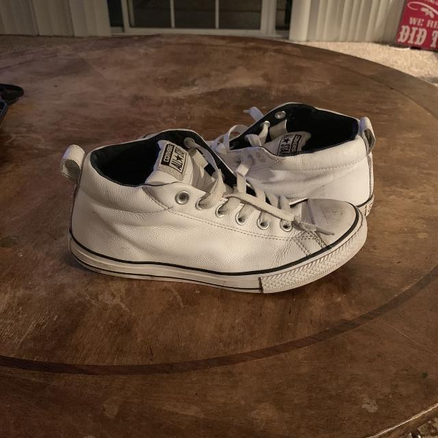 8efcd65bebfd Best Leather Mid Top Converse for sale in Hendersonville