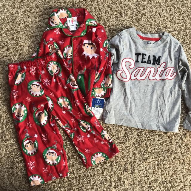 afaa08b215 Best Nwt Elf On The Shelf Pajamas And Nwt Crazy 8 Team Santa Shirt Size 2t  for sale in Gardner