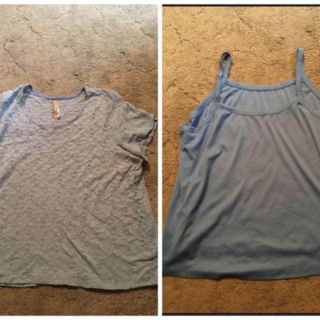 562c0c1677c4b Find more Penningtons Baby Blue Lace Shirt And Tank Top Set - 3x ...