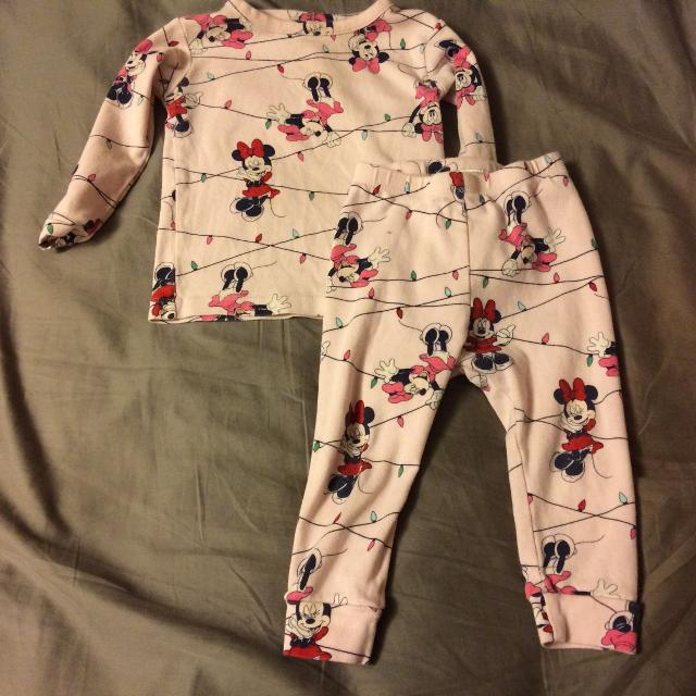 30fd72213a2d Find more Babygap Disney Collection Minnie Mouse Holiday Pjs 12-18 ...