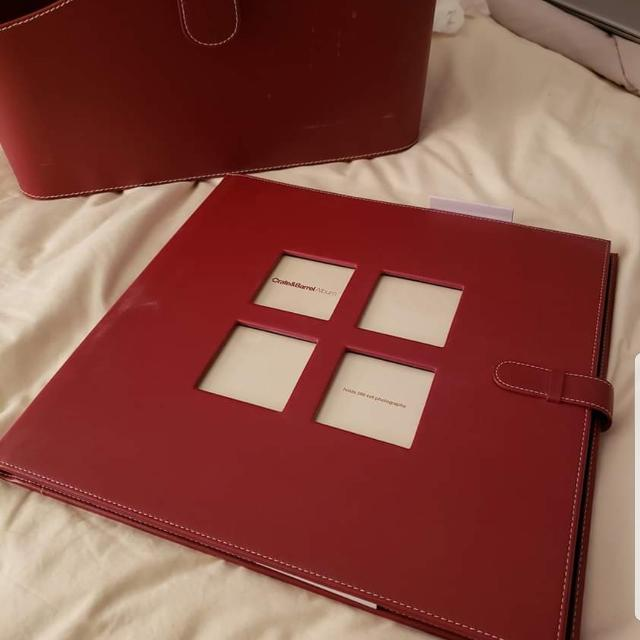 Best Crate And Barrel Photo Album And Magazine Holder For Sale In