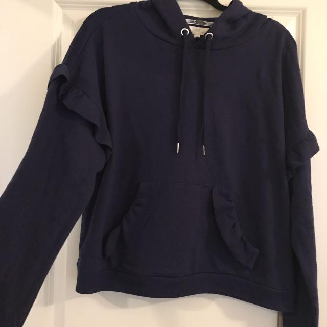 c757381251a57f Find more Navy Ruffled Hoodie From Bloomingdales for sale at up to ...