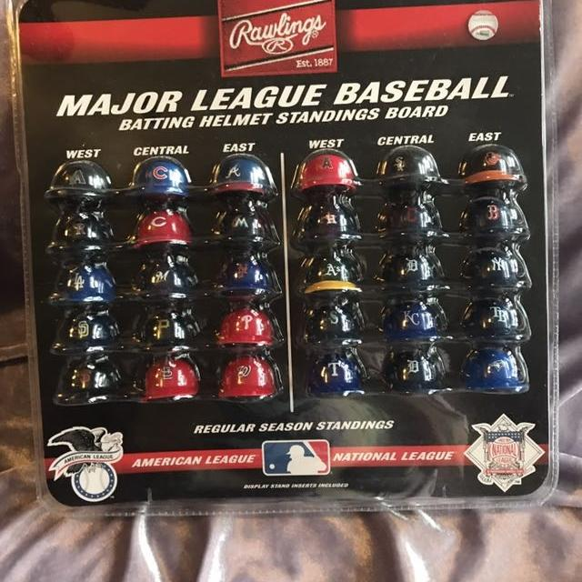 Rawlings Major League Baseball Batting Helmet Standings Board