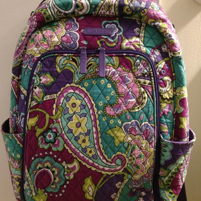 6c18bac34935 Find more Vera Bradley Campus Tech Backpack. Paisley for sale at up ...