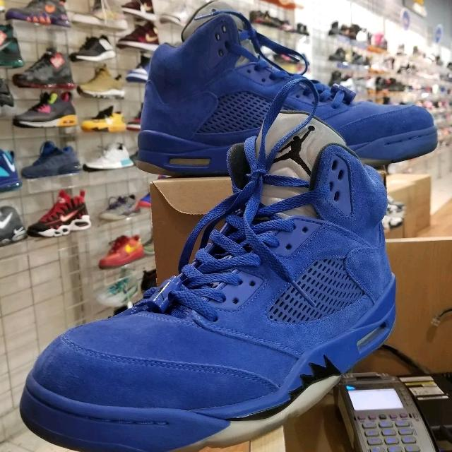 finest selection c49a0 f332f Air Jordan 5 Blue Suede Size 12