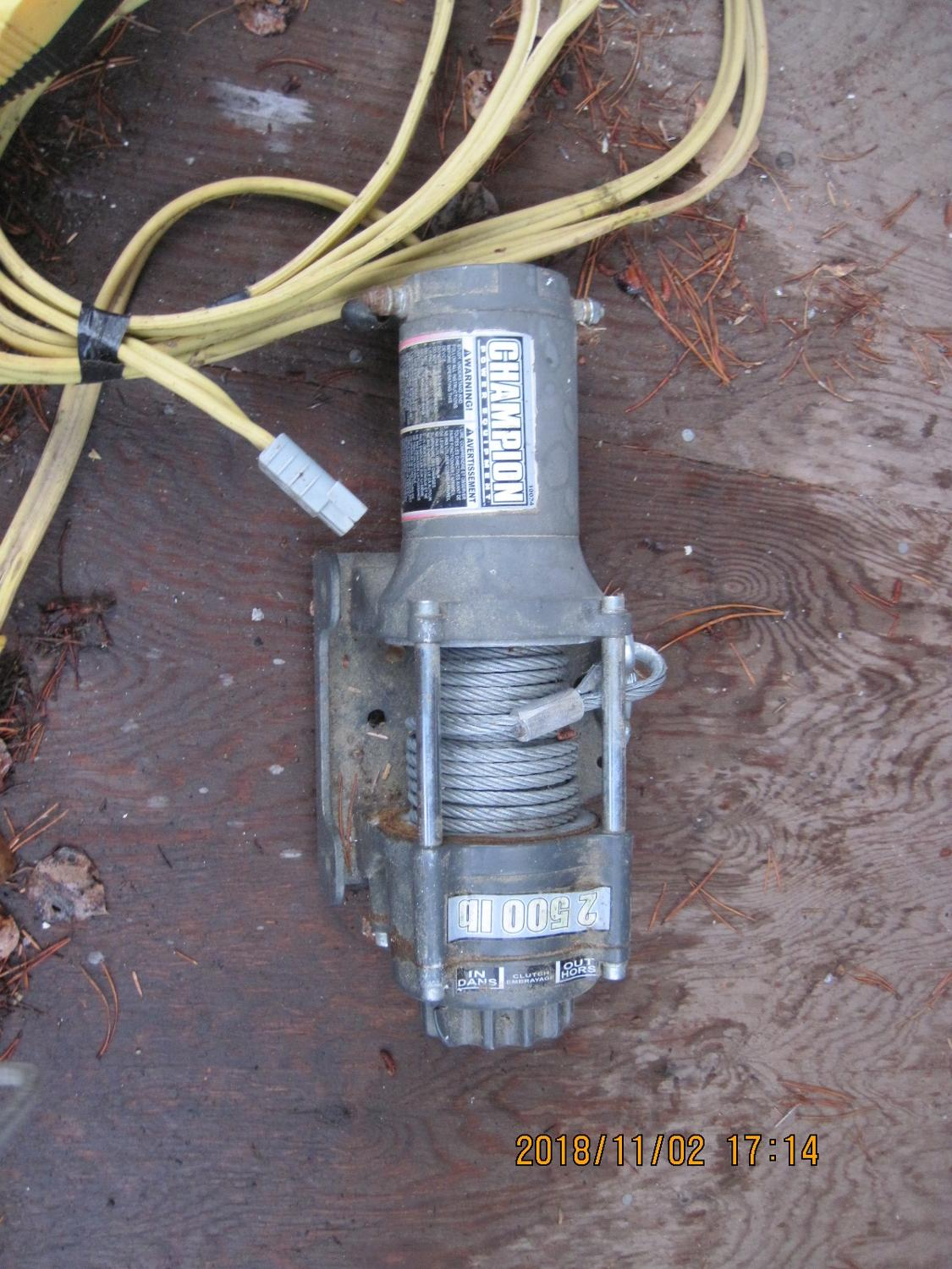 Find More 2500 Lb Winch For Sale At Up To 90 Off Champion Wiring