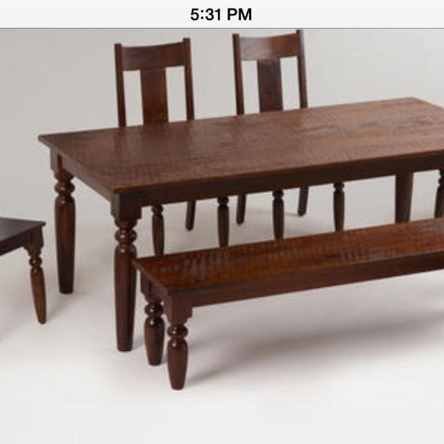 In Search Of 2 World Market Brand Sourav Dining Chairs Or The Long Wood Bench