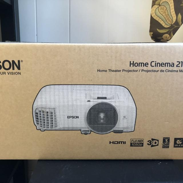 Epson - Home Cinema 2150 1080p Wireless 3LCD Projector - White + Extra New  Bulb & Filter