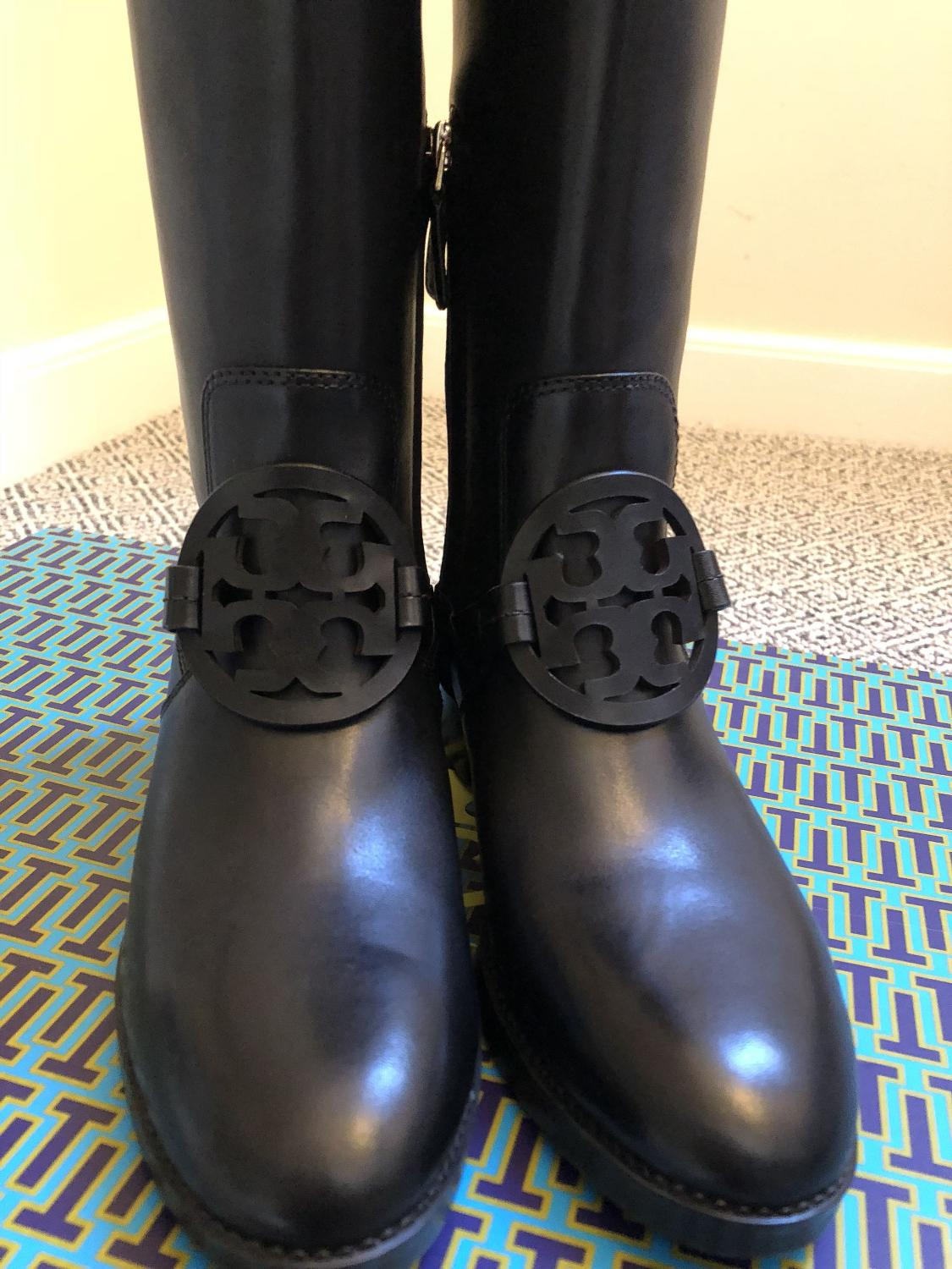 4888d41971d Find more Brand New Tory Burch Tall Black Boots for sale at up to 90 ...