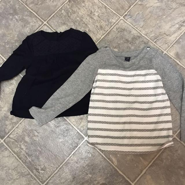 568a81b1abb2 Find more 2 Long Sleeves Shirts From Gap Girls Size 5 for sale at up ...