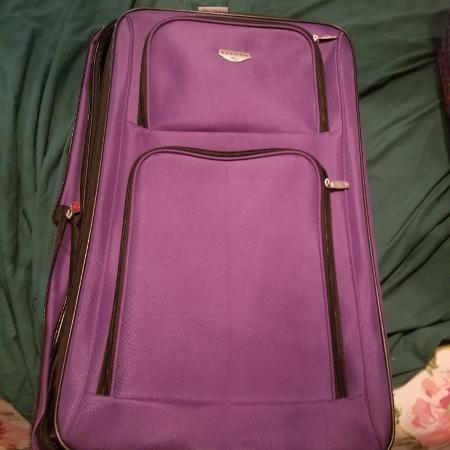 8c21ebbee1a5 Purple travel club suitcase