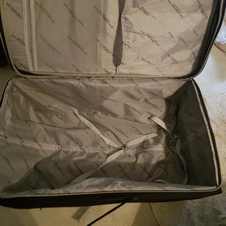 7fcfa2e9c7fc Xlarge leapord and black Voyager suitcase