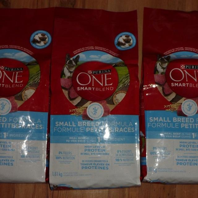 Purina One SmartBlend 1 81Kg Small Breed Formula - Set of 3 ***PICK UP IN  ELMWOOD ONLY***