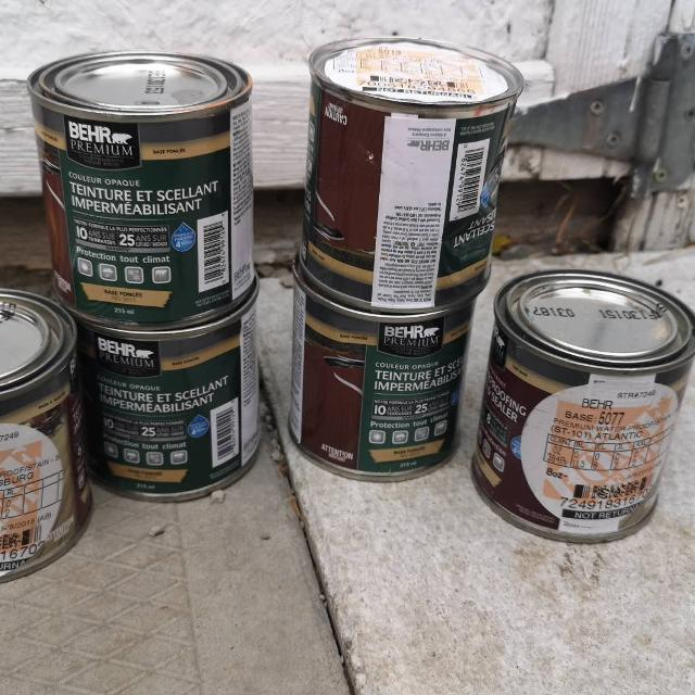 BEHR products waterproofing stain and sealer