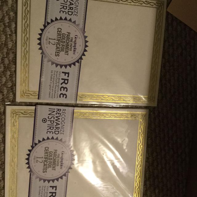 Best 24 Gold Foil Certificate Blanks For Sale In Victoria British