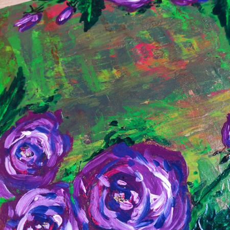 Flower abstract painting for sale  Canada
