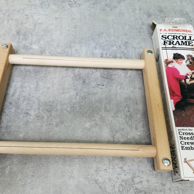Best Scroll Frame 6 X 12 Hardwood Split Rail For Cross Stitch