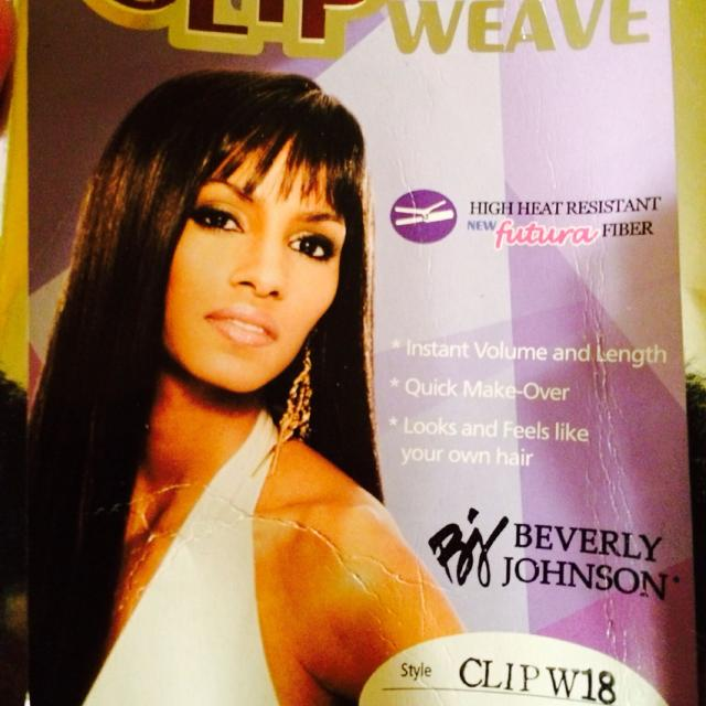 Best Beverly Johnson Clip Weave Hair Extensions 18 1b Never Used