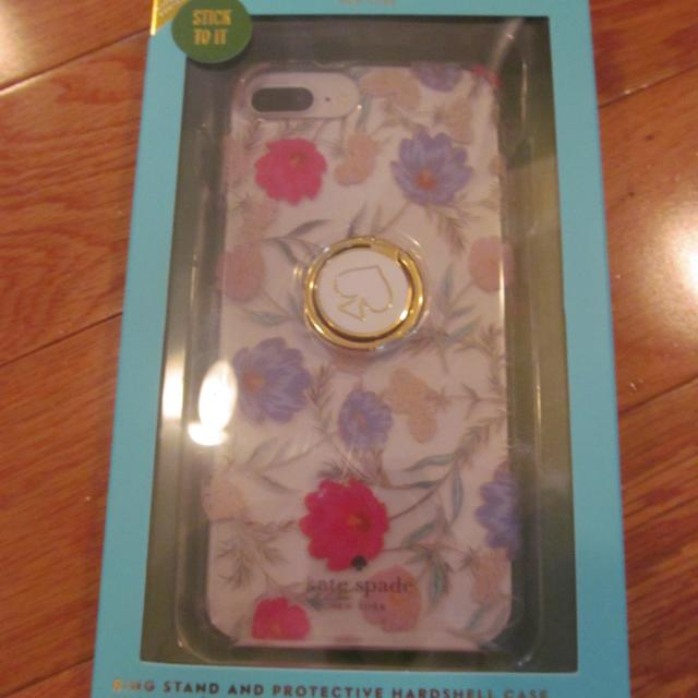 NEW Kate Spade Ring Stand and Protective Hardshell Case (for iPhone 6 Plus,  6s Plus, 7 Plus, 8 Plus) Retail Price around $50