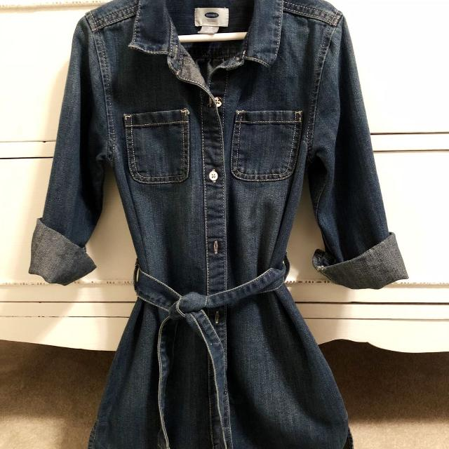 7b6aa5c443 Find more Denim Old Navy Dress - Girls 6-7 for sale at up to 90% off