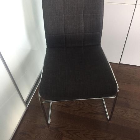 3 Dark Grey Fabric Chairs for sale  Canada