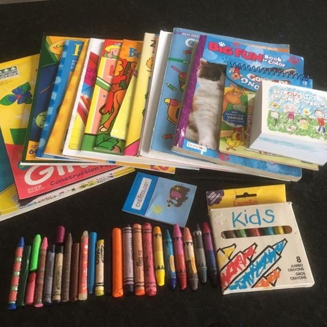 Coloring Books Crayons Etc Lot