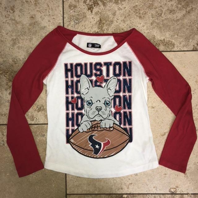 Find more Girls Justice Houston Texans Football Team Glittery Long Sleeve  Shirt With Dog On It Size 8 10 for sale at up to 90% off 1cf4bdd05