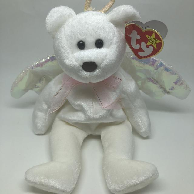 Best Ty Beanie Baby Halo The Angel Bear - Mwmt for sale in Calgary ... 0afac53e434