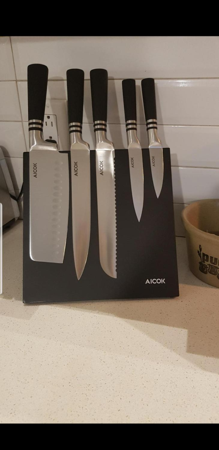 Find More Brand New Magnetic Aicok Knife Set For Sale At Up To 90 Off