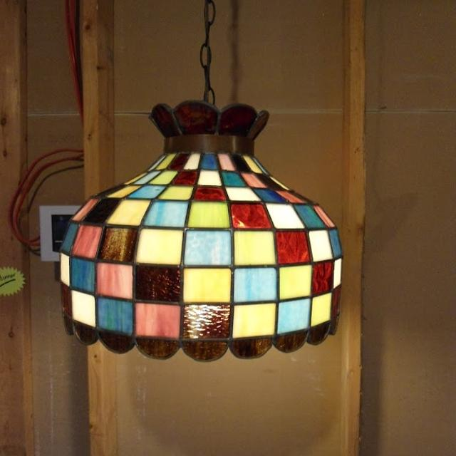 Stained Gl Hanging Light Fixture Jafari Ghola