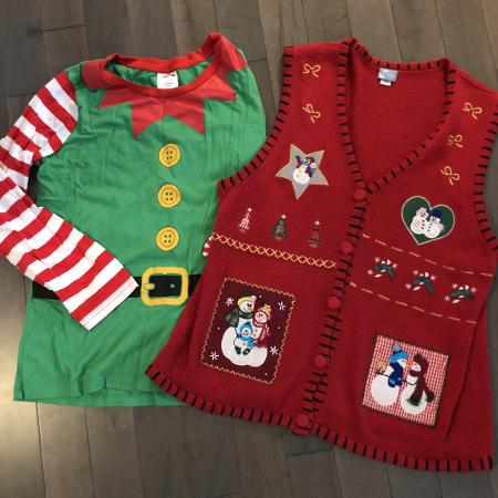 Used, Ugly Christmas elf shirt for sale  Canada