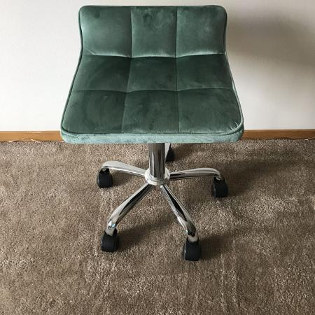 Suede Office Makeup Chair