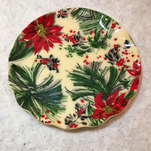 Christmas Platters For Sale.2 Vintage Christmas Serving Platters
