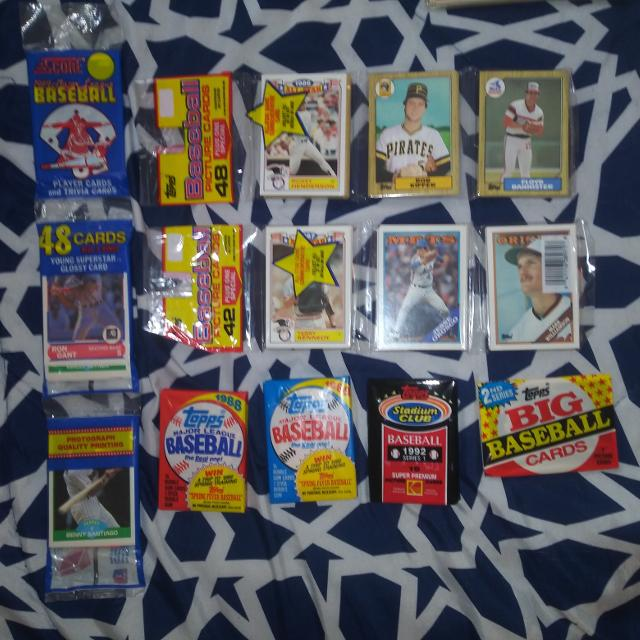 7 Unopened Baseball Card Pack Lot
