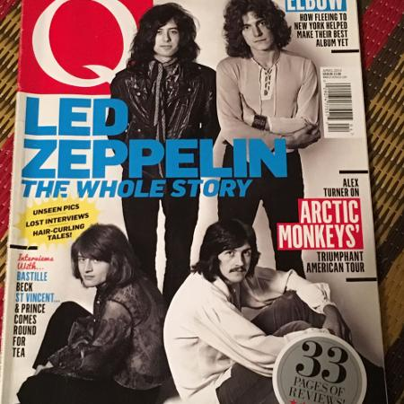 Q magazine featuring Led Zeppelin for sale  Canada