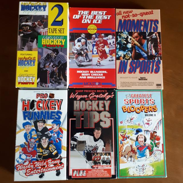 Hockey Assorted VHS Tapes