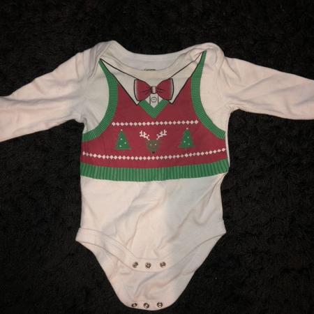 Ugly Christmas sweater diaper shirt for sale  Canada