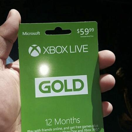 Xbox Live gold Gift Card, used for sale  Canada