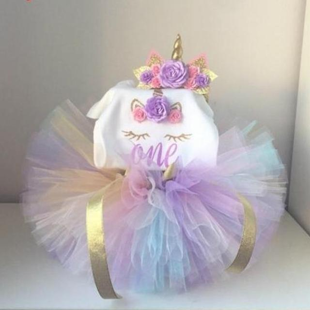 NEW! 1 YEAR OLD UNICORN BIRTHDAY OUTFIT!