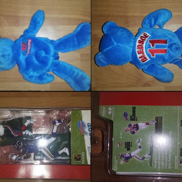 Best Ne Patriots Drew Bledsoe  vikings Randy Moss for sale in ... d9e27b88589