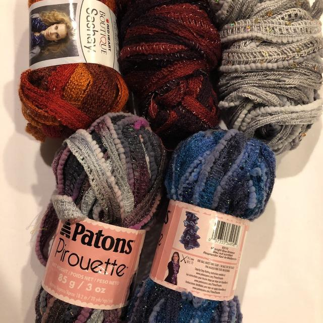 Find More Knitting Scarf Kits Patons Pirouette And Boutique Sashay