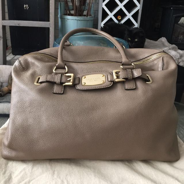 cf3ca7e81763 Find more Authentic Michael Kors Hamilton Leather Weekender Tote Bag ...