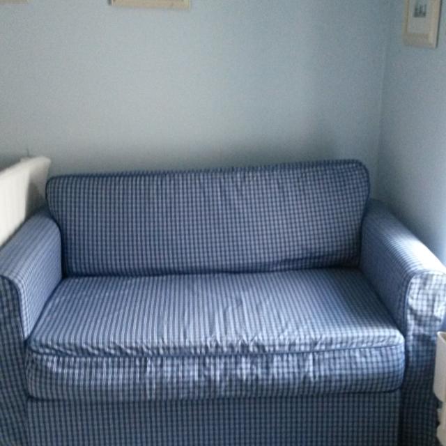 Ikea Hagalund Sofa Bed Fruvik Blue