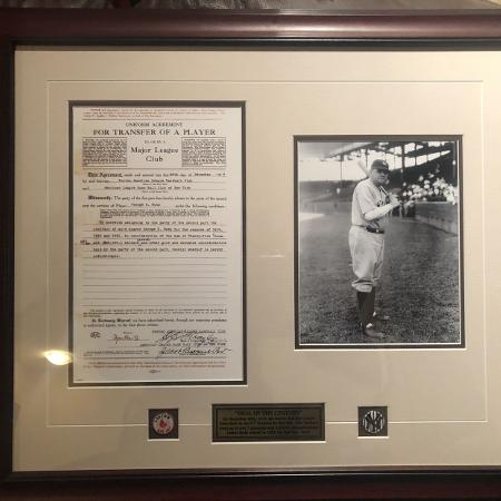 Babe Ruth contract, used for sale  Canada