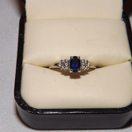 Sapphire & Diamond Engagement Ring for sale  Canada