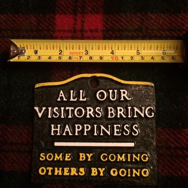 "40f61b6e1aba Best Metal Plaque ""all Our Visitors Bring Happiness"" for sale in Victoria,  British Columbia for 2019"