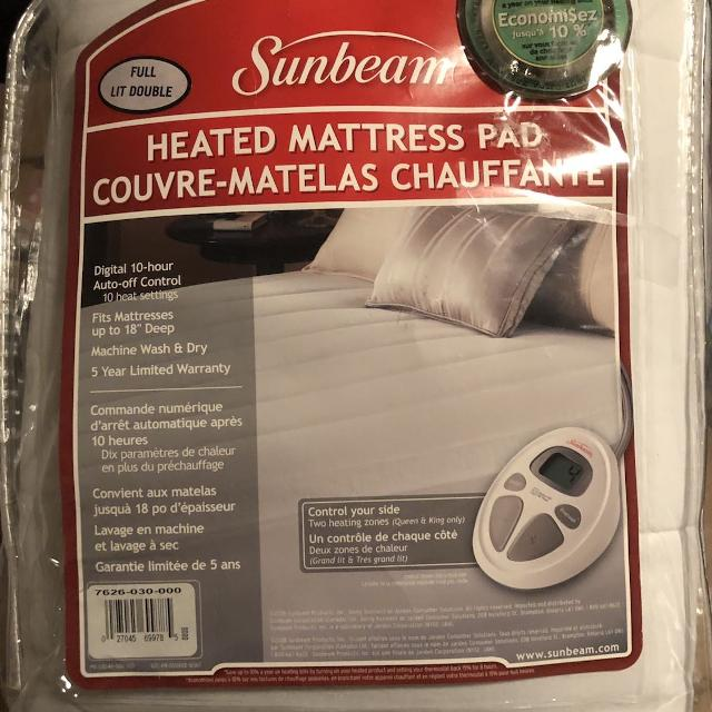 Best Sunbeam Heated Mattress Pad For Sale In Airdrie Alberta For 2019