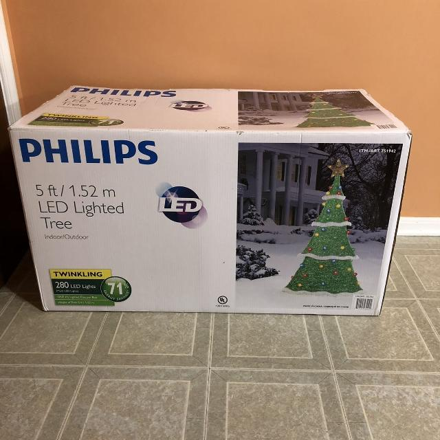 Best Philips Led 5ft Twinkling Lighted Tree Brand New For Sale In