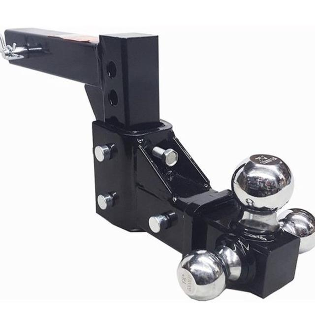 Adjustable Hitch Receiver >> New All Steel Triple Hitch Ball Drop Hitch 13 Adjustable Trailer Hitch Receiver