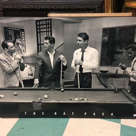 Used, Vintage rat pack wood picture $25 for sale  Canada